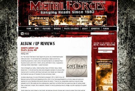 Metal Forces gives our debut 9/10!